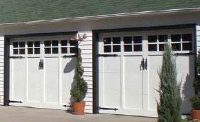 Woodcraft Custom Carriage House Wood Garage Doors