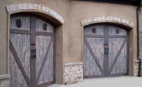 Woodcraft Rustic Custom Wood Garage Doors