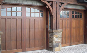 Woodcraft Custom Traditional Wood Garage Doors